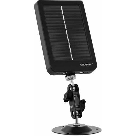Stamony Panel Solar Para Cámara de Caza Célula 1.200 mA Capacidad: 3000 mAh