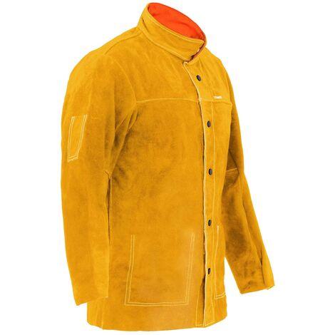 Stamos Veste De Soudeur Cuir Vêtement Soudure Protection Taille M