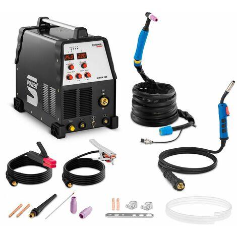 Stamos Welding Equipo Soldadura Combinado Mma Mig-Mag Tig Hf Monofase 230V