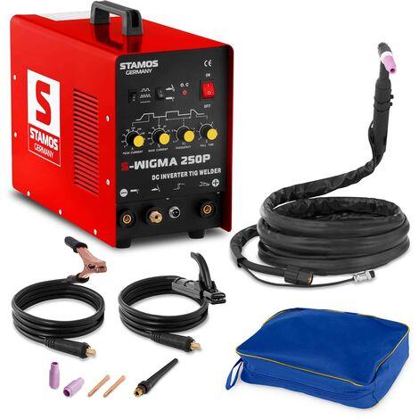 Stamos Welding Equipo Soldadura Inverter S-Wigma 250P Tig Pulsación