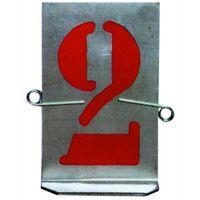 Stampi/Numeri In Lamiera Zincata 9 Numeri Art. 606 Mm. 100