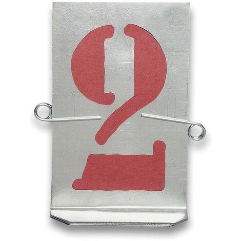 Stencils motivo numeri Stencil in zinco da parete
