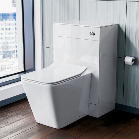Stan Back to Wall Toilet Pan with Concealed Cistern WC Unit Set