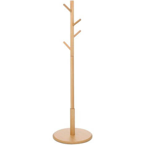 Stand Coat Rack Tree Hat Jacket Umbrella Hanger Holder Wooden Tree
