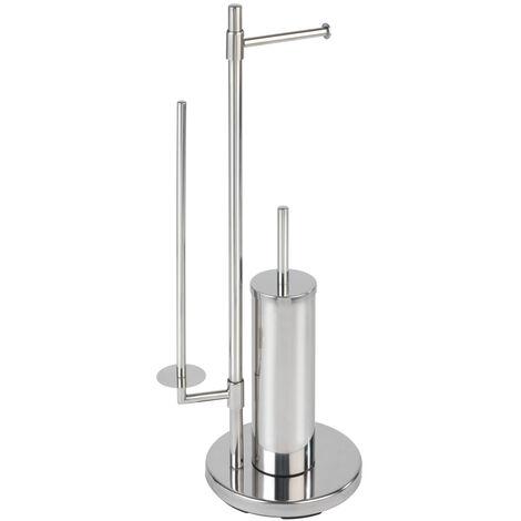 Stand Toilettenbürste WC Garnitur Ersatz Klobürste Edelstahl Silikon Neo Bad