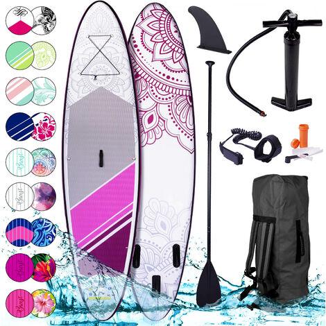 Stand Up Paddle gonflable Kolibri 9`10 20psi 115kg Drop stitch tissé kit complet – planche gonflable SUP 300x76x15cm de BRAST