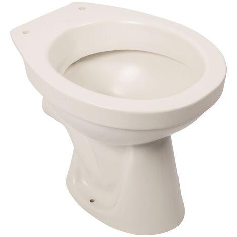 Stand-WC, Abgang waagerecht, edelweiß, Tiefspüler