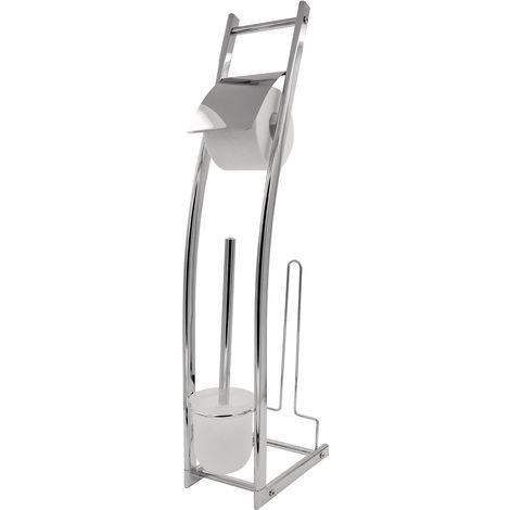 Stand-WC-Garnitur Fabio mit Ersatzrollenhalter chrom ca. 15 x 74 x 27 cm