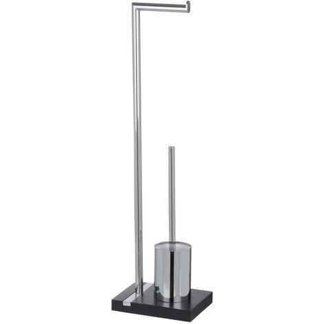 Stand WC Garnitur Klobürste Toilettenbürste Bürste Bürstenhalter Bad Noble Black