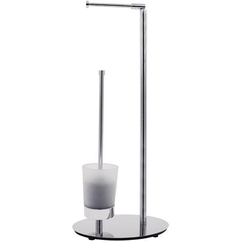 Stand-WC-Garnitur Perth mit 3-fach Nutzen chrom ca. 30 x 65 x 20 cm