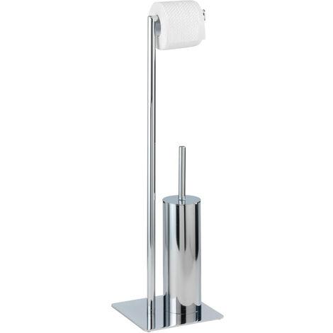 Stand WC Garnitur Toilettenbürste Klobürste Toilettenpapier Halter Recco