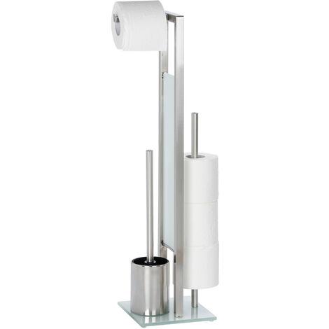 Stand WC Garnitur Toilettenbürste Klobürste Toilettenpapier Halter Rivalta
