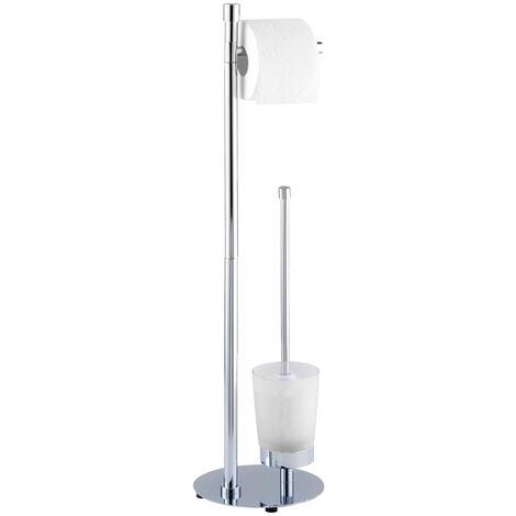Stand WC Garnitur Toilettenbürstenhalter Toilettenpapier Rollenhalter Roma