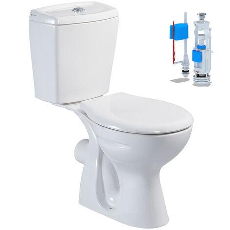 Stand-WC mit Spülkasten Softclose WC-Sitz Deckel Toilette WC Waagerecht Wand