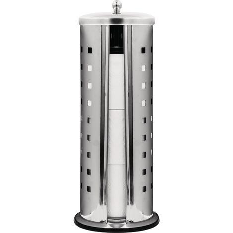 Stand-WC-Papier-Ersatzrollenhalter Premium für 3 Rollen chrom glänzend ca. Ø 15 x 38 cm