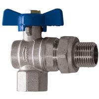 "Standard Water Flow Rate Angled Ball Valve with Butterfly Handle Female x Male 1/2"" BSP"