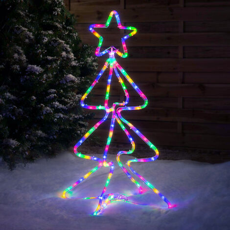 Standing Christmas Tree Rope Light Decoration
