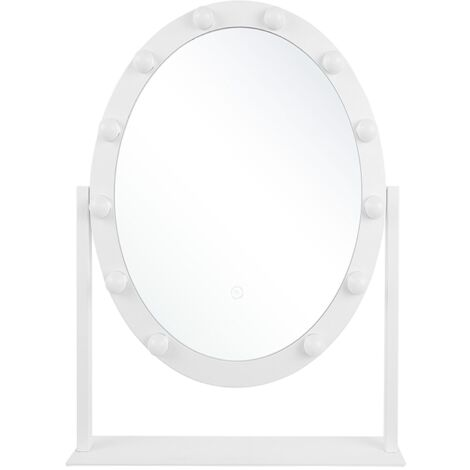 Standing Vanity Mirror LED 50 x 60 cm White ROSTRENEN