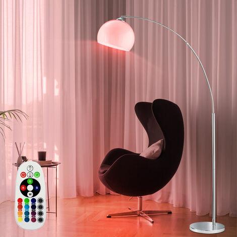 Standlampe remoto de arco de pie luces atenuado en conjunto incl. RGB lámparas LED