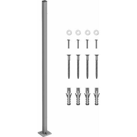 Standpfosten für Markisenkasten Markisenkassette von Seitenmarkise GSA002 - Grey