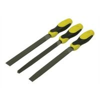 Stanley 0-22-464 File Set 3 Piece Flat , 1/2 Round, 3 Square 200mm (8in)