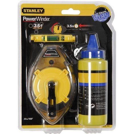 STANLEY 0-47-465 - Cordel de trazado kit powerwinder 30m polvo nivel de cordel