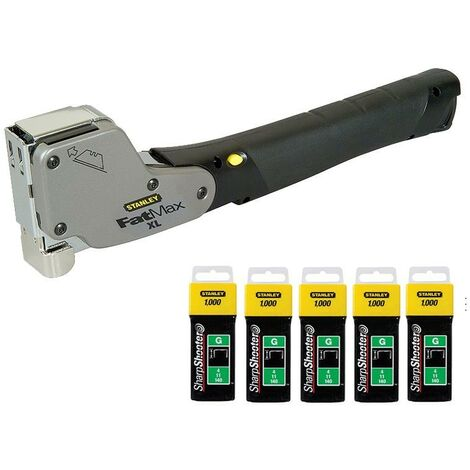 Stanley 0-PHT350 FatMax Hammer Tacker + TRA705T + 5000 Heavy Duty 8mm Staples