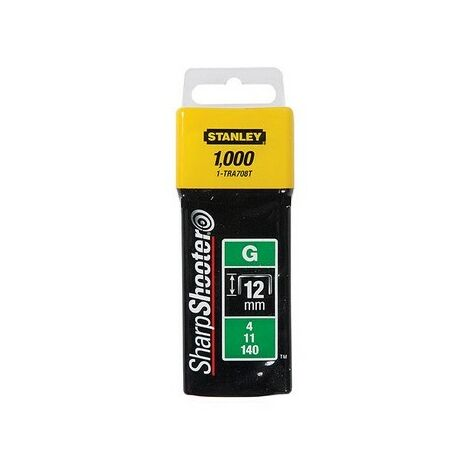 Stanley 0-TRA708T Heavy Duty Staples 12mm Pack of 1000