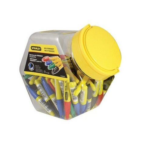 Stanley 1-47-329 Mini Fine Tip Marker Pen Tub of 72