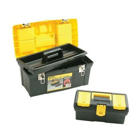 """Stanley 1-92-219 Plastic Toolbox 19"""" With Tote and Bonus 13"""" Toolbox"""