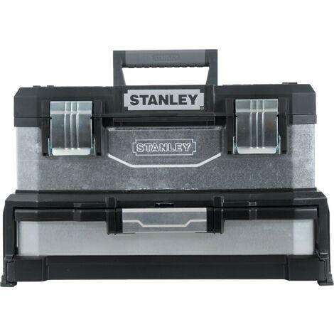"""Stanley 1-95-830 20"""" Galvanised Toolbox & Drawer"""