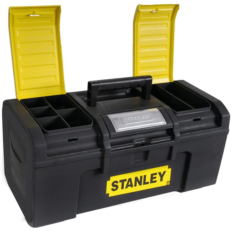 Image of Stanley 16 Inch One Touch Toolbox - Black
