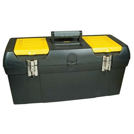 Stanley 19 Inch Toolbox With Tray - Black