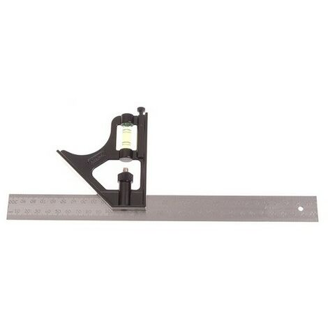 """Stanley 2-46-222 Combination Square 12"""" 300mm Metal Body"""