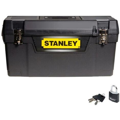 Stanley 25 Inch Storage Toolbox Babushka Tool Box and Padlock STA194859 1-94-859