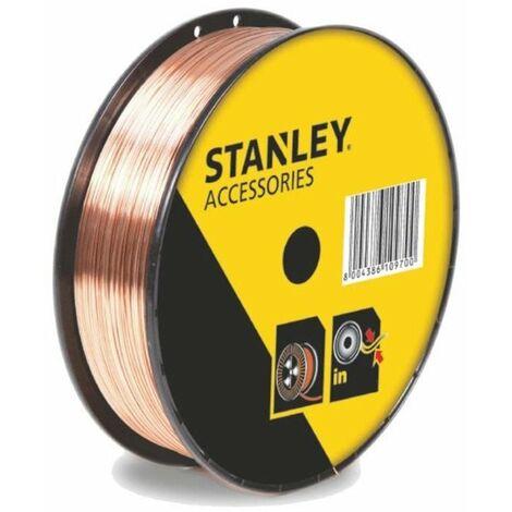 STANLEY 460618 Bobine fil acier pour soudure MIG/MAG avec gaz - Ø 0,8 mm - 0,9 kg
