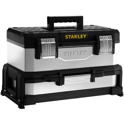 STANLEY Boite a outils a tiroir galvanisee 51cm vide