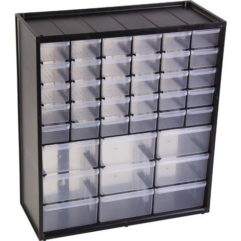 Casier De Rangement 39 Compartiments Stanley Noir 1 93 981