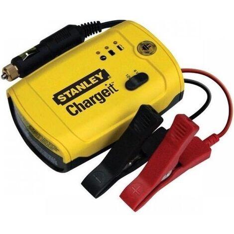 Stanley Chargeur de batterie 6-12 Volt 5 Amp - Jaune