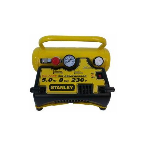 Stanley Druckluft Kompressor 5 l ölfrei DN55/8/5 1,1 kW 8 bar 55 l/min