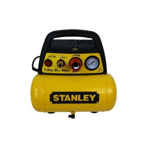 Stanley Druckluft Kompressor 6 l DN 200/8/6 ölfrei 1,1 kW 8 bar 180 l/min