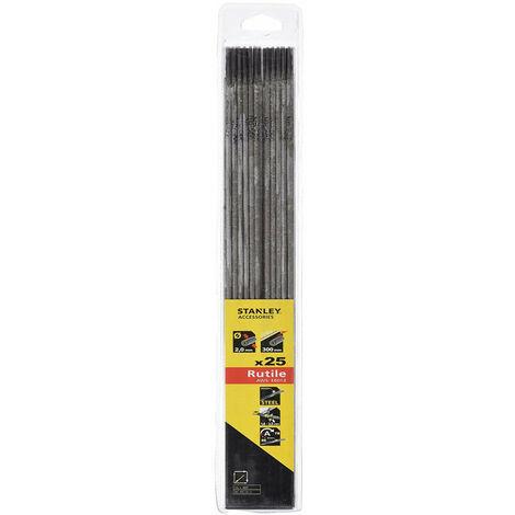 STANLEY Electrodes de soudure - rutiles - hb r 2.0x300 mm (25x) (90472)