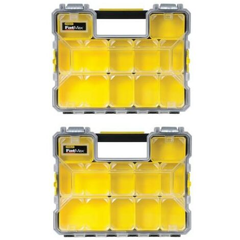 Stanley Fatmax Pro Organiser STA197517 Toolbox Storage 1-97-517 Twin Pack