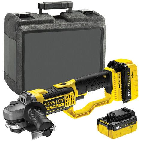 Stanley FMC761M2 Fatmax Meuleuse 125 mm 18V 4Ah 2x Batteries Coffret