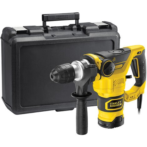 Stanley FME1250K Perforateur Burineur SDS+ 1250W 3.5J 5,4Kg + Coffret. Burin & Foret