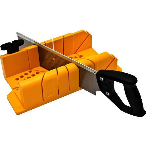 Stanley Gehrungslade, PVC 1-20-600 mit Säge, 12 TPI Zahnung, integrierter Sägenstopp, 90 / 45 / 22,5 Grad Winkel einstellbar STANLEY® - 18712