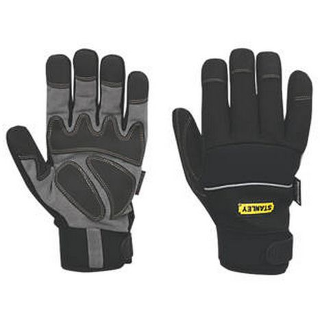 Stanley Hipora Membrane Leather Performance Glove (One Size) (Black)