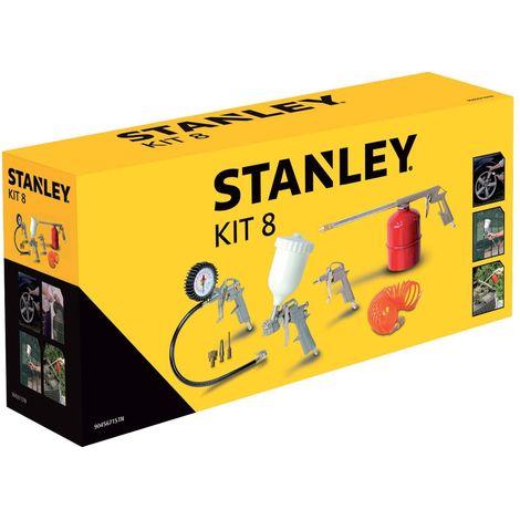 Stanley Kit 8 Accessori per Compressore Pisola Soffiaggio Gonfiaggio Aeorgrafo