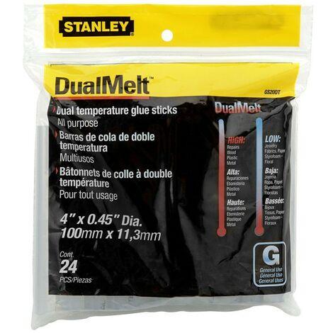 Stanley Mini Hot Glue Gun Sticks 11.3mm x 100mm (24 Pack) Dual Temp STA1GS20DT