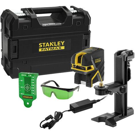 Stanley - Niveau laser croix vert SCPG2 à batterie 7.2V Li-Ion 2Ah 2 points 45m et 30m/50m avec malette - FATMAX